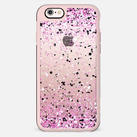 Pink Black White Confetti Explosion - New Standard Case