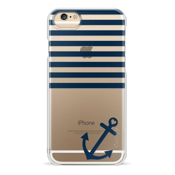 iPhone 6s Cases - Navy Blue Nautical Transparent