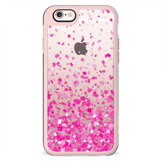 Pink Party Confetti Explosion Transparent