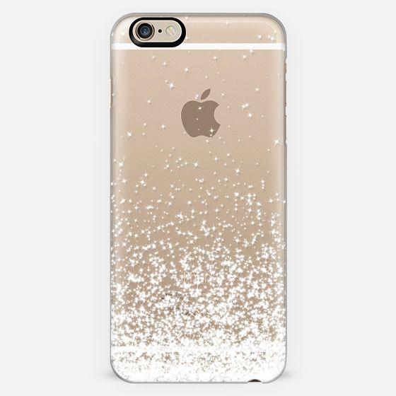 White Sparkles Transparent  - New Standard Case