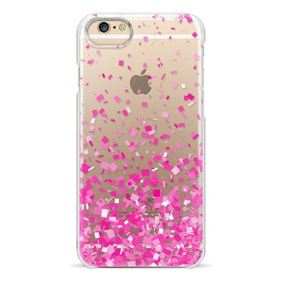 iPhone 6 Cases - Pink Party Confetti Explosion Transparent