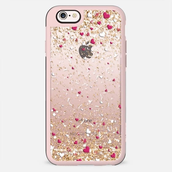 Gold Pink and White Love Confetti Explosion  - New Standard Case