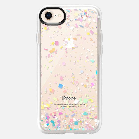 Pastel Confetti Explosion Transparent - Snap Case