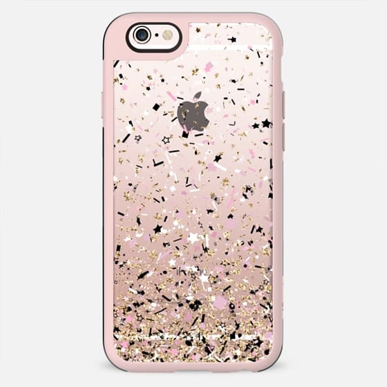 Gold Pink Black and White Party Confetti Explosion  - New Standard Case