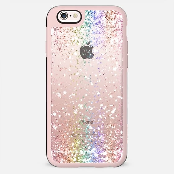 Pastel Rainbow White Confetti Explosion - New Standard Case