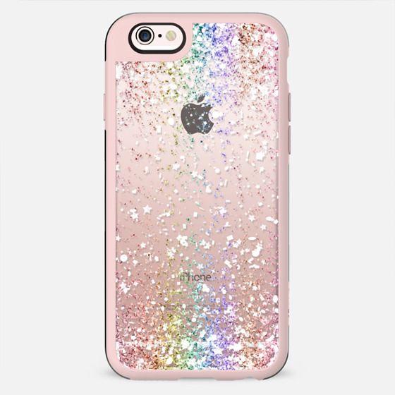 Pastel Rainbow White Confetti Explosion