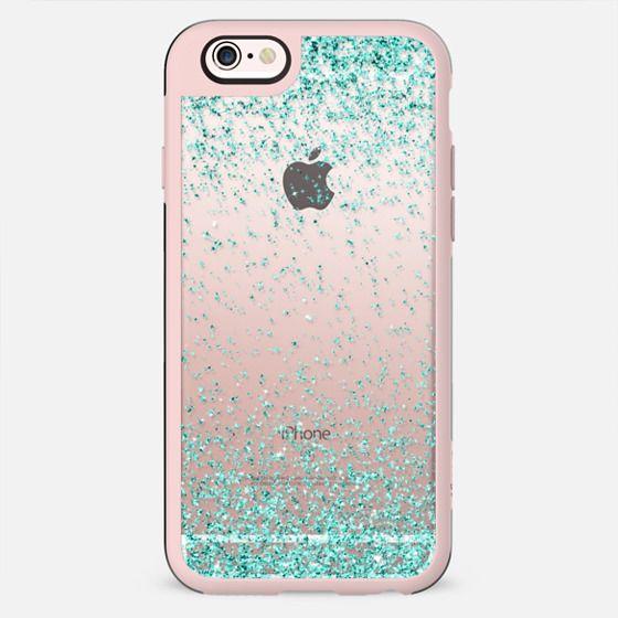 Turquoise Sparkly Glitter Burst  - New Standard Case