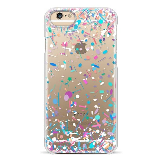 iPhone 6 Cases - Girly Confetti Explosion Transparent