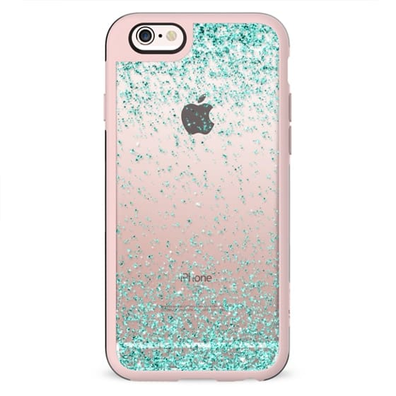 Turquoise Sparkly Glitter Burst