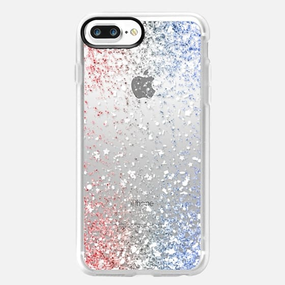 Red White and Blue Confetti Explosion  -