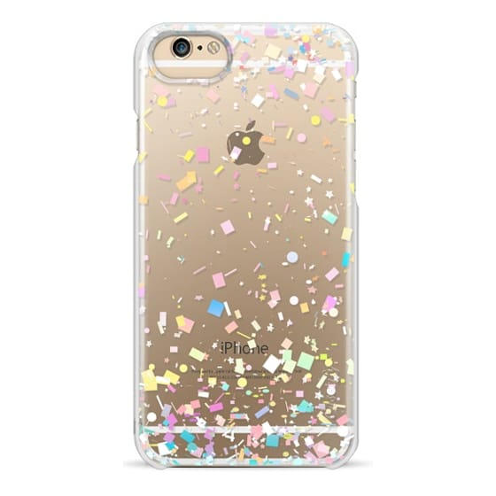 iPhone 6 Cases - Pastel Confetti Explosion Transparent
