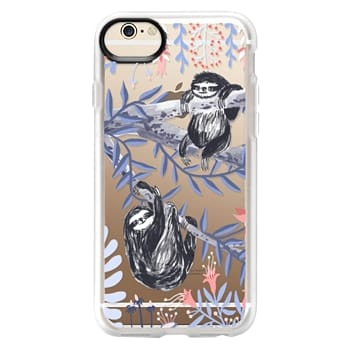 Grip iPhone 6 Case - Two Sloths by Papio Press
