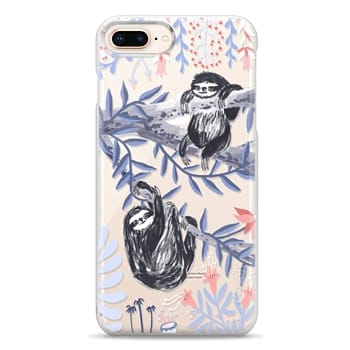 Snap iPhone 8 Plus Case - Two Sloths by Papio Press