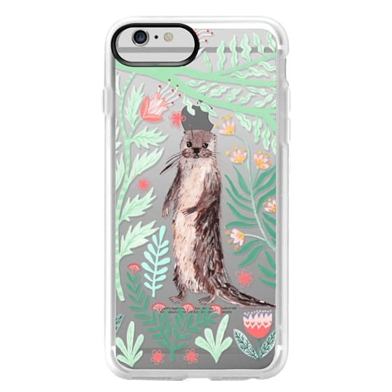 iPhone 6 Plus Cases - Floral Otter by Papio Press