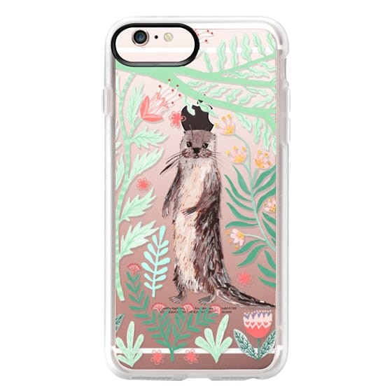 iPhone 6s Plus Cases - Floral Otter by Papio Press