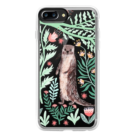 iPhone 7 Plus Cases - Floral Otter by Papio Press