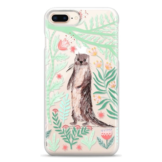 iPhone 8 Plus Cases - Floral Otter by Papio Press