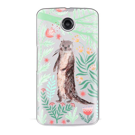 Nexus 6 Cases - Floral Otter by Papio Press
