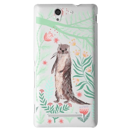 Sony C3 Cases - Floral Otter by Papio Press
