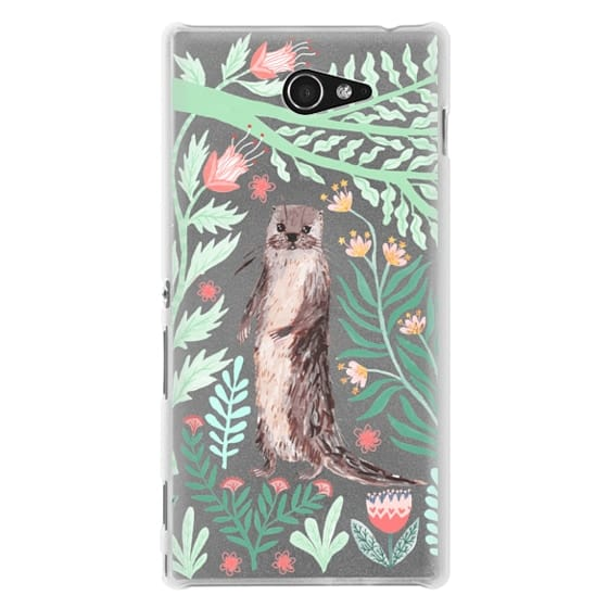 Sony M2 Cases - Floral Otter by Papio Press