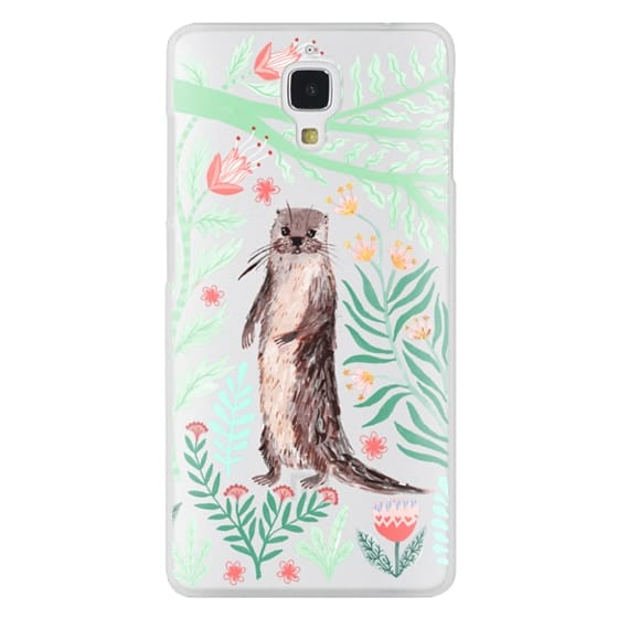 Xiaomi 4 Cases - Floral Otter by Papio Press