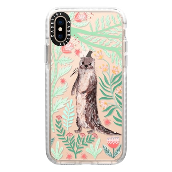 iPhone XS Cases - Floral Otter by Papio Press