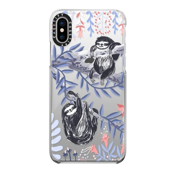iPhone X Cases - Two Sloths by Papio Press