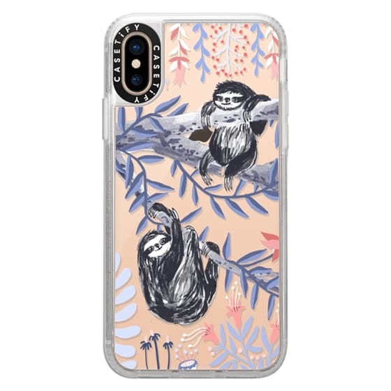 iPhone XS Cases - Two Sloths by Papio Press