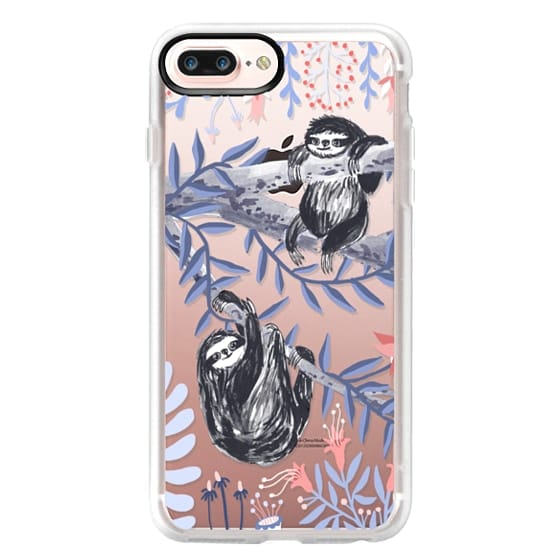 iPhone 7 Plus Cases - Two Sloths by Papio Press