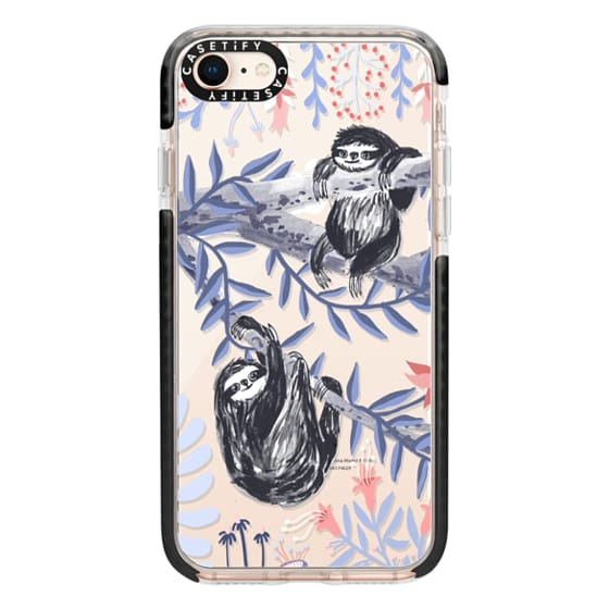 iPhone 8 Cases - Two Sloths by Papio Press