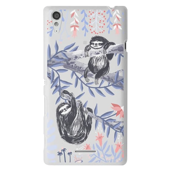 Sony T3 Cases - Two Sloths by Papio Press