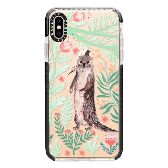 iPhone XS Max Cases - Floral Otter by Papio Press