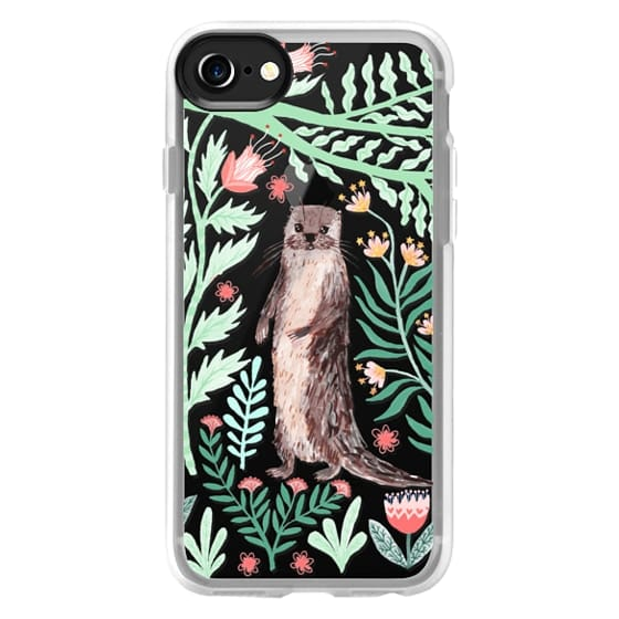 iPhone 4 Cases - Floral Otter by Papio Press