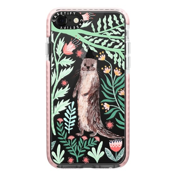 iPhone 7 Cases - Floral Otter by Papio Press