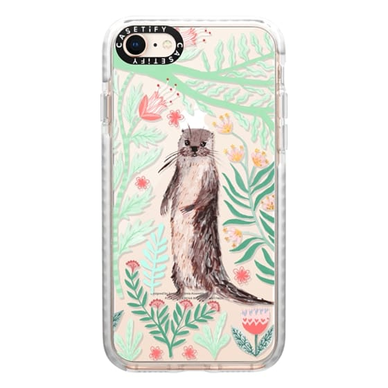 iPhone 8 Cases - Floral Otter by Papio Press