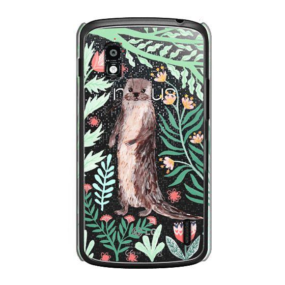 Nexus 4 Cases - Floral Otter by Papio Press