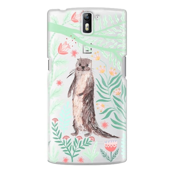 One Plus One Cases - Floral Otter by Papio Press