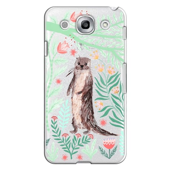 Optimus G Pro Cases - Floral Otter by Papio Press