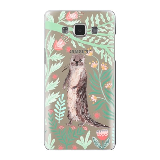 Samsung Galaxy A5 Cases - Floral Otter by Papio Press