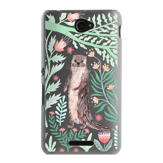 Sony E4 Cases - Floral Otter by Papio Press