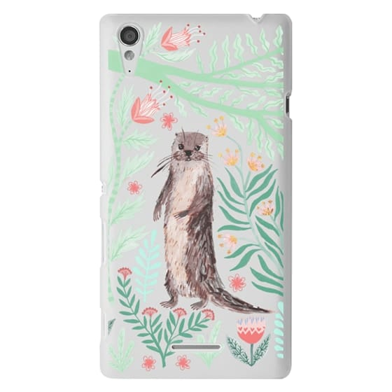 Sony T3 Cases - Floral Otter by Papio Press