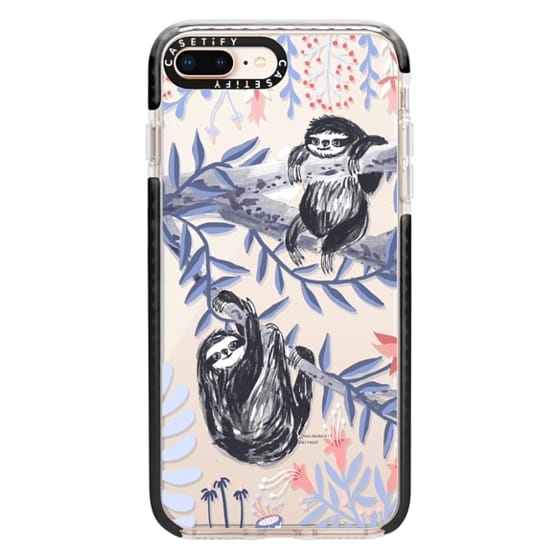 iPhone 8 Plus Cases - Two Sloths by Papio Press