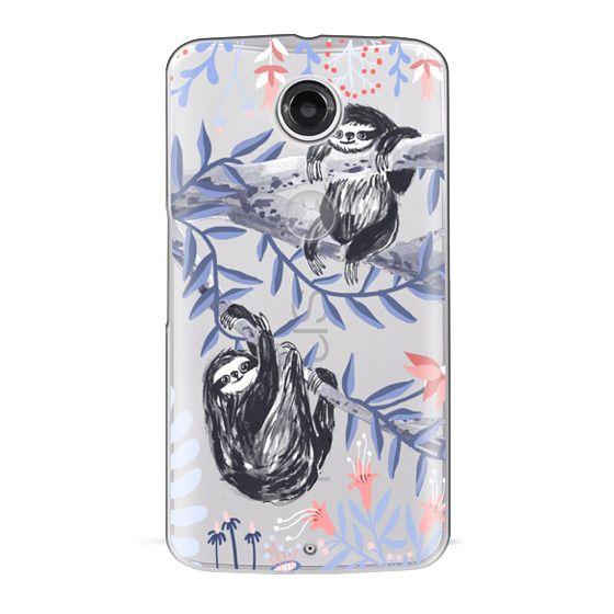 Nexus 6 Cases - Two Sloths by Papio Press