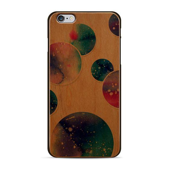 Watercolor space planets 3. Transparent.