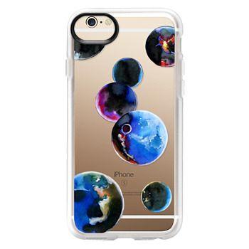 Grip iPhone 6 Case - Watercolor space planets. Transparent