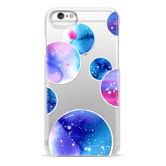 iPhone 6 Cases - Watercolor space planets 3. Transparent.