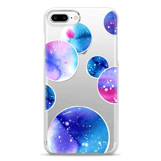 iPhone 7 Plus Cases - Watercolor space planets 3. Transparent.