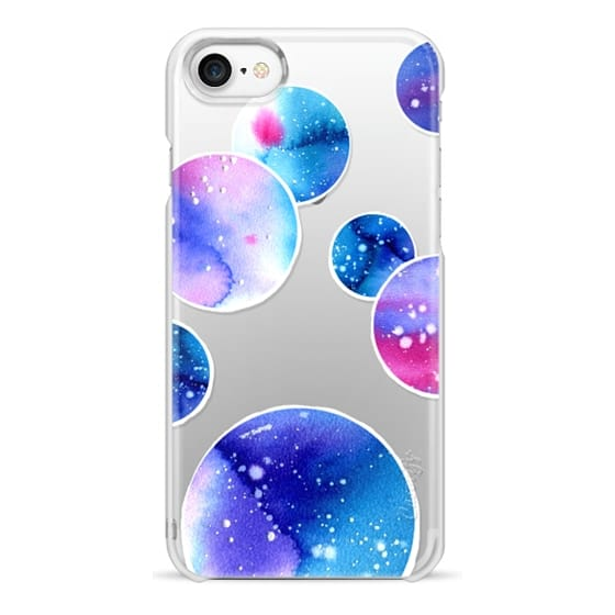 iPhone 7 Cases - Watercolor space planets 3. Transparent.
