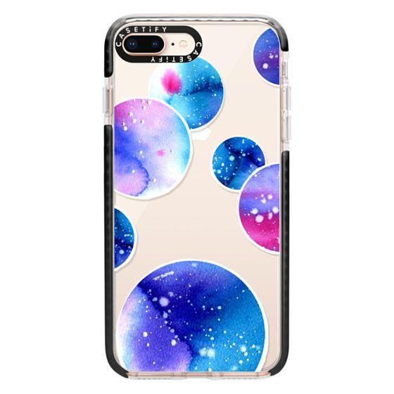 iPhone 8 Plus Cases - Watercolor space planets 3. Transparent.