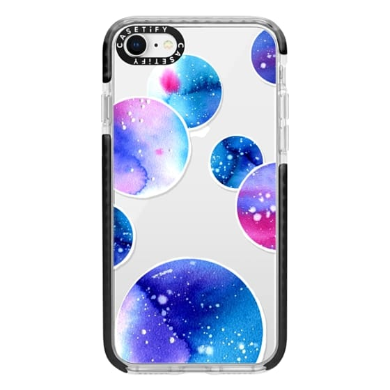 iPhone 8 Cases - Watercolor space planets 3. Transparent.